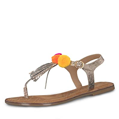 Tamaris Damen Zehentrenner Rosé Gold, Schuhgröße:EUR 40