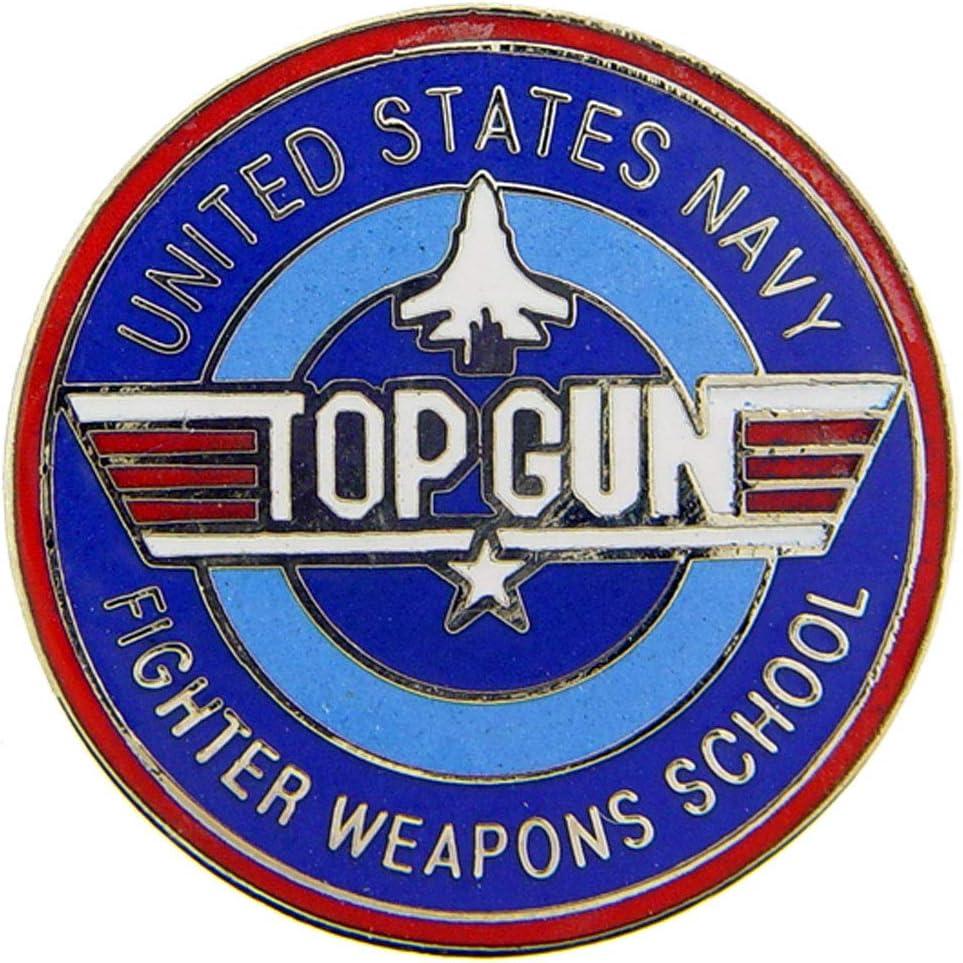 TOP GUN FIGHTER WEAPONS SCHOOL LAPEL PIN BADGE 1 INCH US NAVY USN