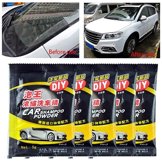 CADANIA 5Pieces Powder Car Wash Shampoo Universal Cleaning ...
