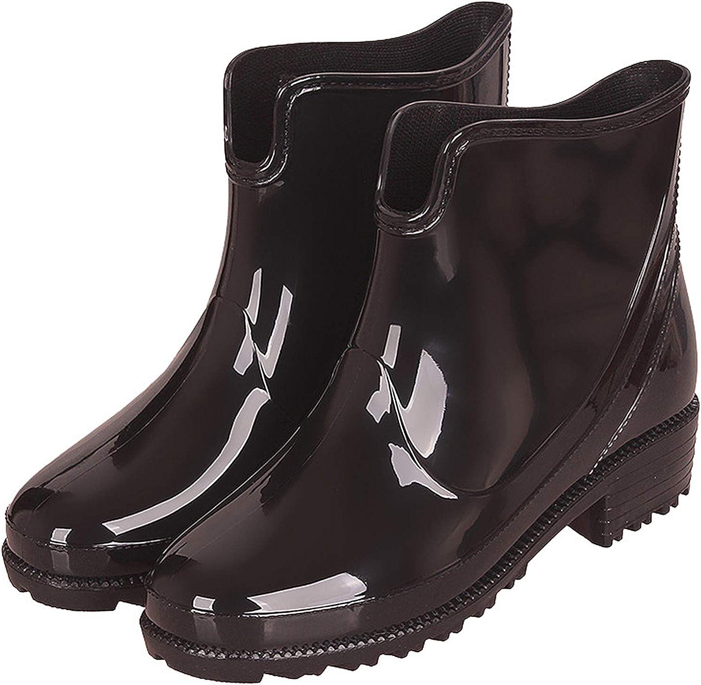 CCZZ Womens Rain Boots Anti Slip Short