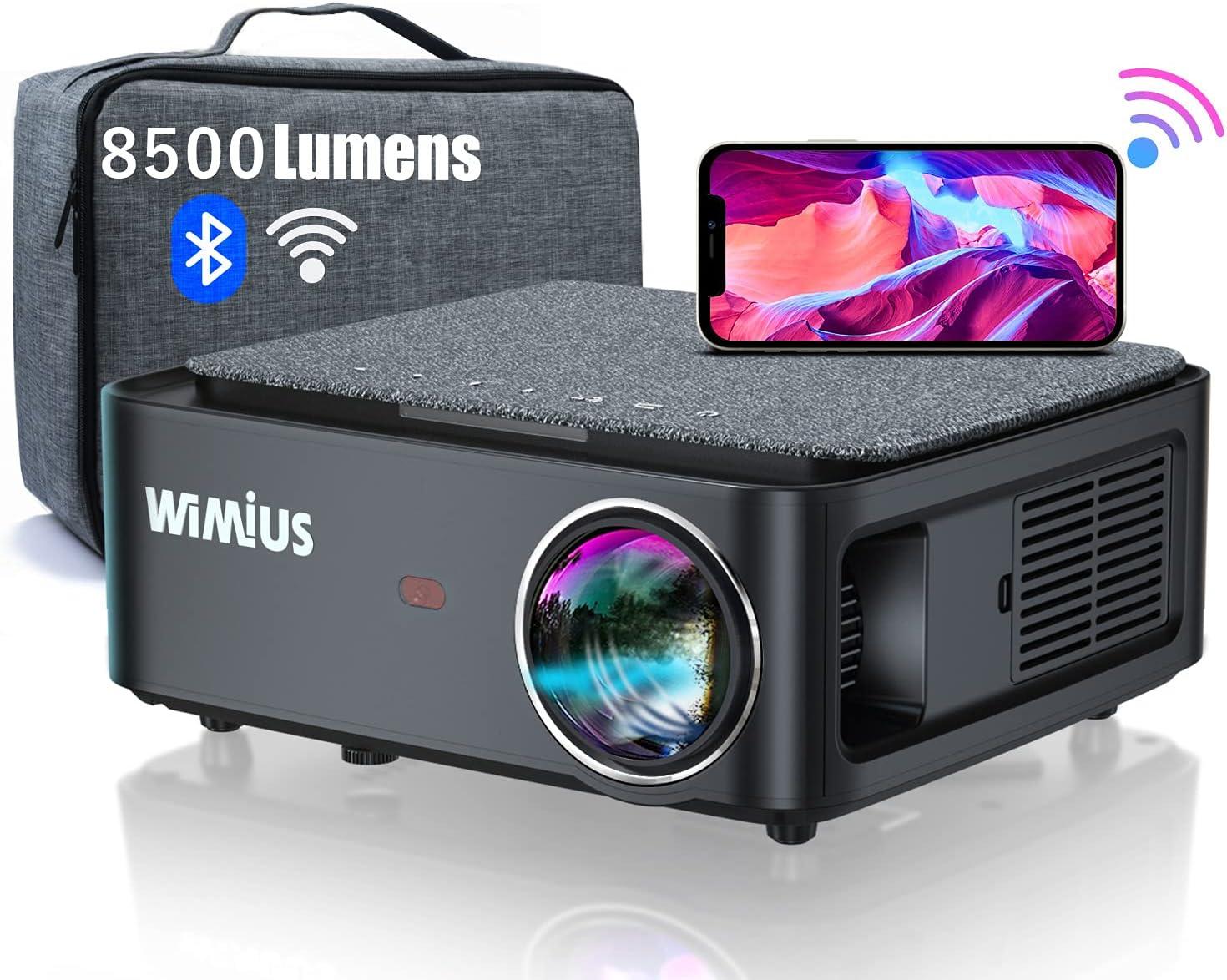 WiMiUS プロジェクター 8500lm WiFi 5G
