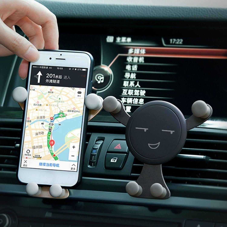 mekolen Portatelefono per Auto Staffa a Gravità per Uscita D\'aria, Forma di Smiley