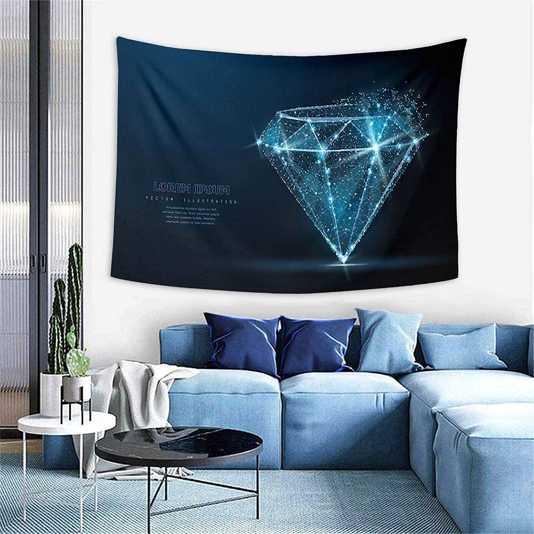 Constellation Tapestry,Diamond Low Poly Wireframe Mesh Crumbled Edge and Looks Like Constellation,Wall Hanging Wall Decor Wall Tapestry for Bedrooms Living Room Dorm for Home Decor - 50
