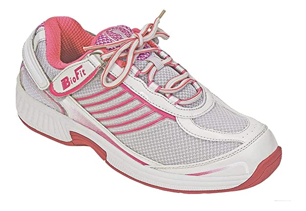 Orthofeet Verve Comfort Wide Orthopedic Diabetic Athletic Shoes for Women Fuchsia Fabric & Leather 11 W US