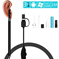 OCJEDEEE 3 en 1 USB oído limpiador endoscopio multifuncional HD Visual Cuchara de oído cuchara de cuidado de la salud herramienta de limpieza