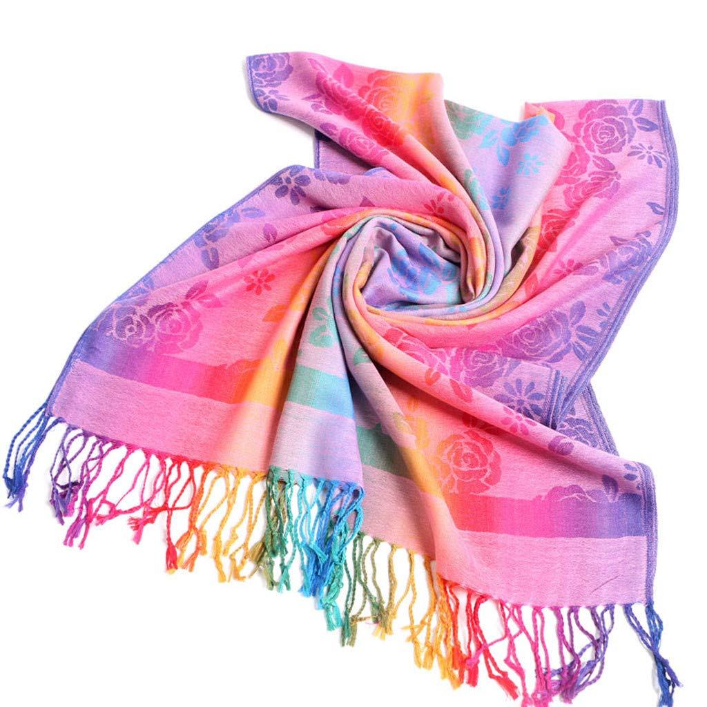 Brand New Multi-colour Artistic Print Silk Wool Women/'s Winter Scarf//Stole//Shawl