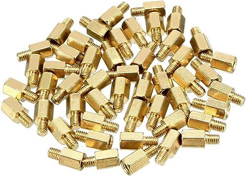 20pcs M3 45 6mm Male Female Thread Brass Hexagonal Spacer Screws Pillar PCB