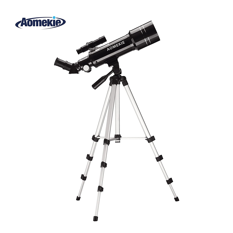Aomekie 400x70mm Terrestrial Refractor Astronomy Telescope for Beginners, Travel Scope with Adjustable Tripod