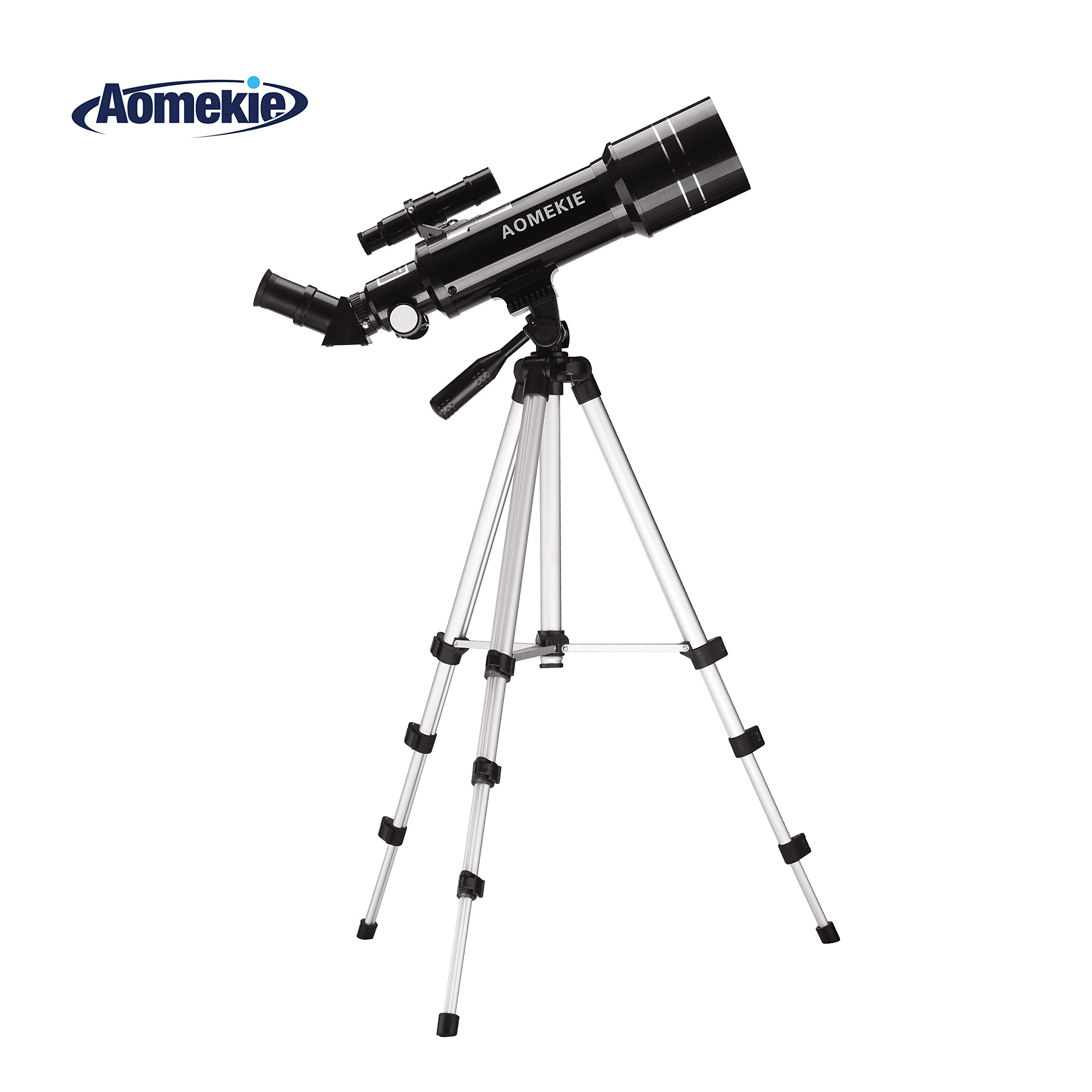 Aomekie Telescope for Adults Kids and Astronomy Beginners 70mm Travel Scope Refractor Telescopes with Adjustable Tripod