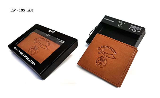 7357ca5e239a RFID Safe Shriner's Bill Fold Wallet (LW-105)