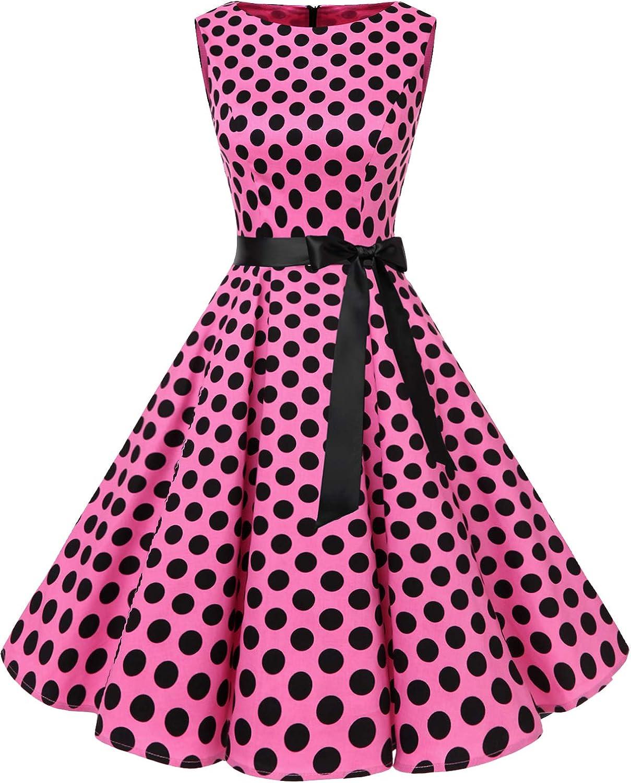 Bbonlinedress Womens Retro 1950s Vintage Swing Rockabilly Party Cocktail Dress