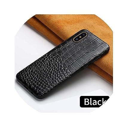 Amazon.com: Funda de piel auténtica para iPhone X XR XS max ...