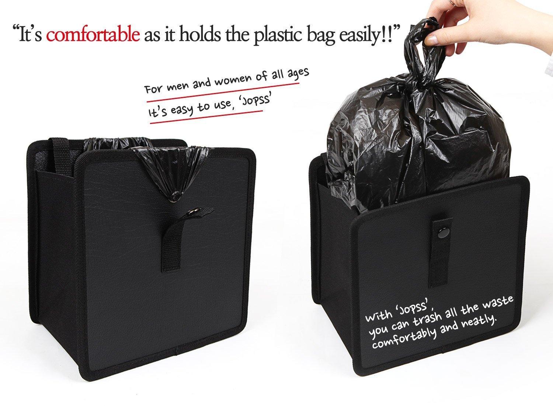 Black//Red happyle Hanging Car Trash Bag Can Premium Waterproof Litter Garbage Bag Organizer