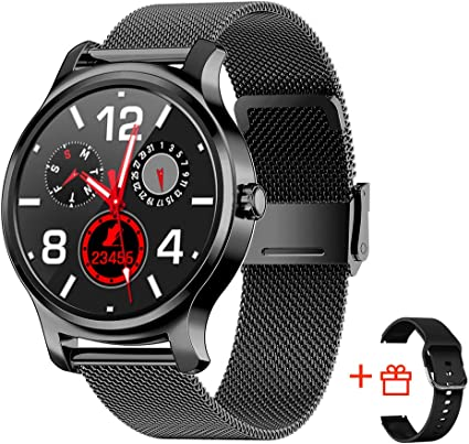 SMA-R2 Smart Watch with Blood Pressure Monitor for Men for Android Phones and iOS smartwatch for Wear Watches with Heart Rate Monitor Fitness Tracker ...