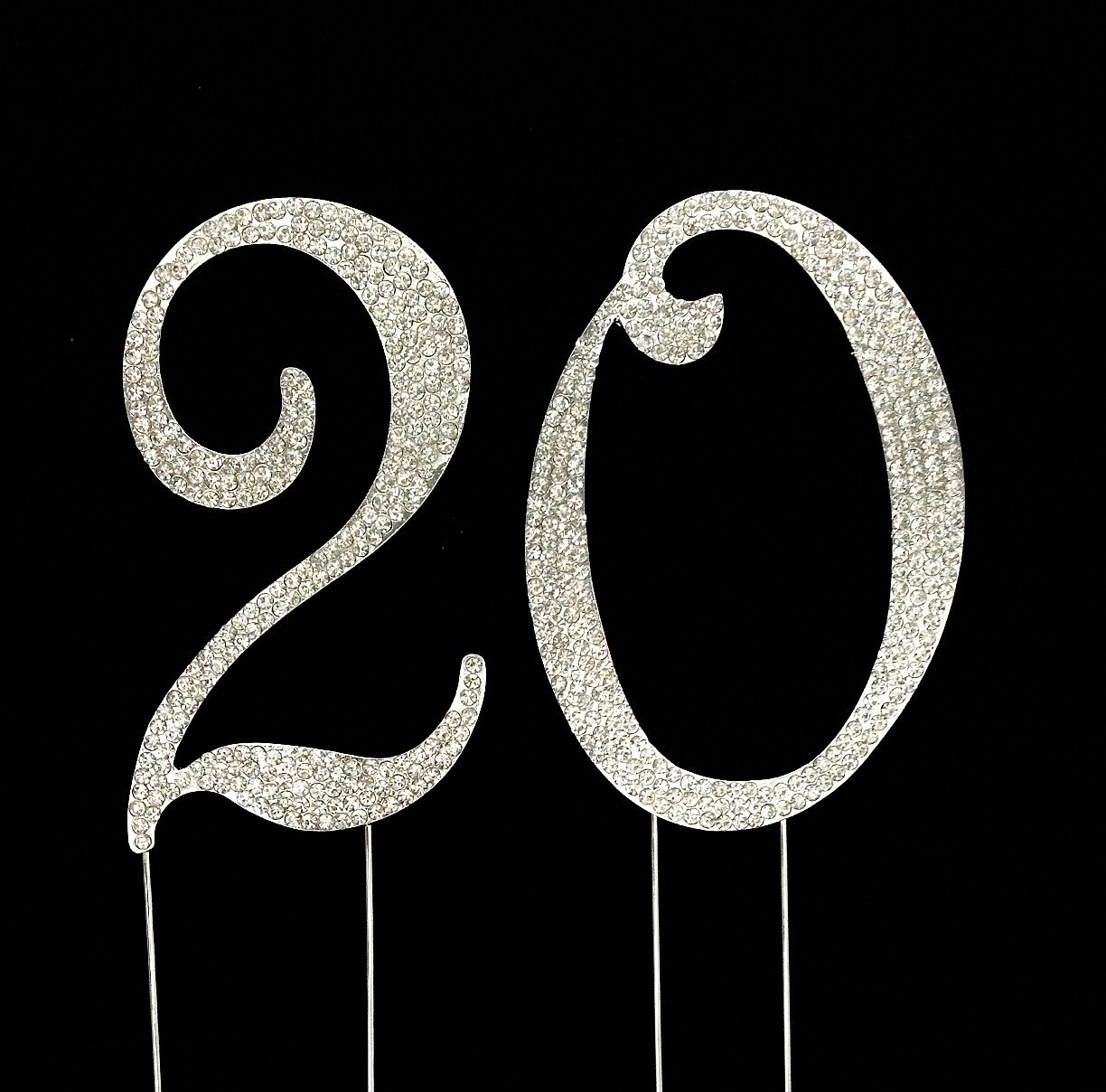 Amazoncom Number 20 for 20th Birthday or Anniversary Cake Topper