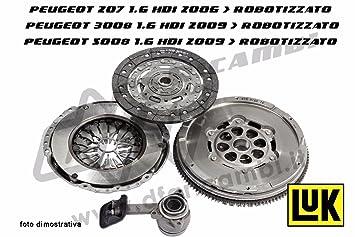 Kit Embrague + Volante + Rodamiento Hidráulico, cambio robotizzato, sistema Luk kv0140: Amazon.es: Coche y moto
