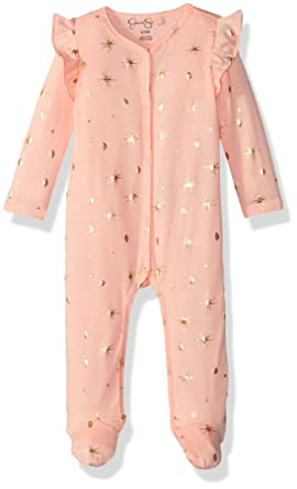 Jessica Simpson Baby Clothes Custom Amazon Jessica Simpson Baby Girls Foil Printed Footie Clothing
