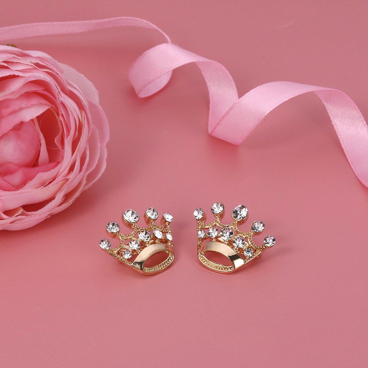 BESTOYARD 12/pi/èces Couronne Broche Pin Mode Diamant F/ête Mariage Spectacle Diad/ème Couronne Corset pour Mariage Fournitures pour Saint Valentin Or