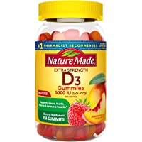 Extra Strength Vitamin D3 5000 IU (125 mcg), 150 Gummies, High Potency Vitamin D Gummies for Adults, Vitamin D Helps…