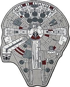 Star Wars Millenium Falcon Printed Rug, Small