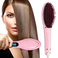 OLIS Professional Ceramic Hair Straightener Brush With Temperature Control For Women
