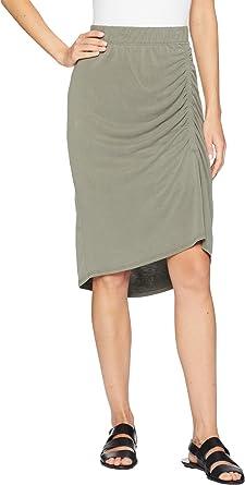 d4f44ff4da Splendid Women's Sandwash Jersey Slit Skirt Miltary Olive X-Small