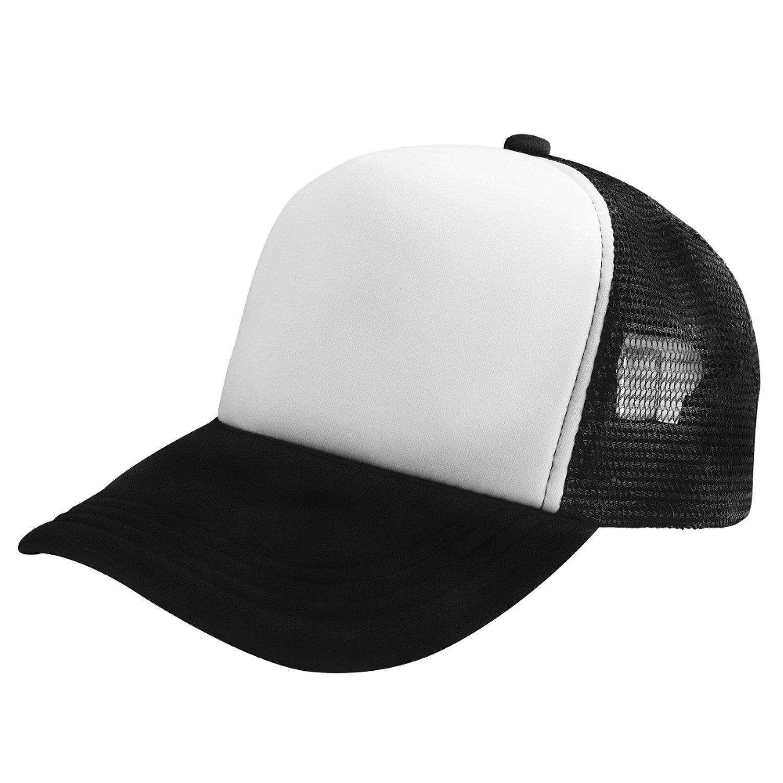 Insten Baseball Mesh Hat, White/Black eForCity 1937185