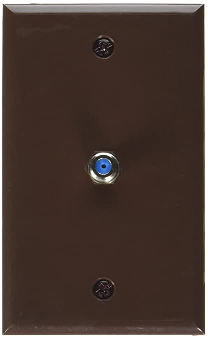 Datacomm 32-2024-BR 2.4 GHz Coax Wall Plate (Brown)