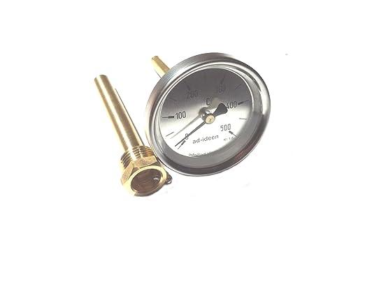 500 °C Termómetro horno termómetro Madera del Horno 10 cm (AD de ...