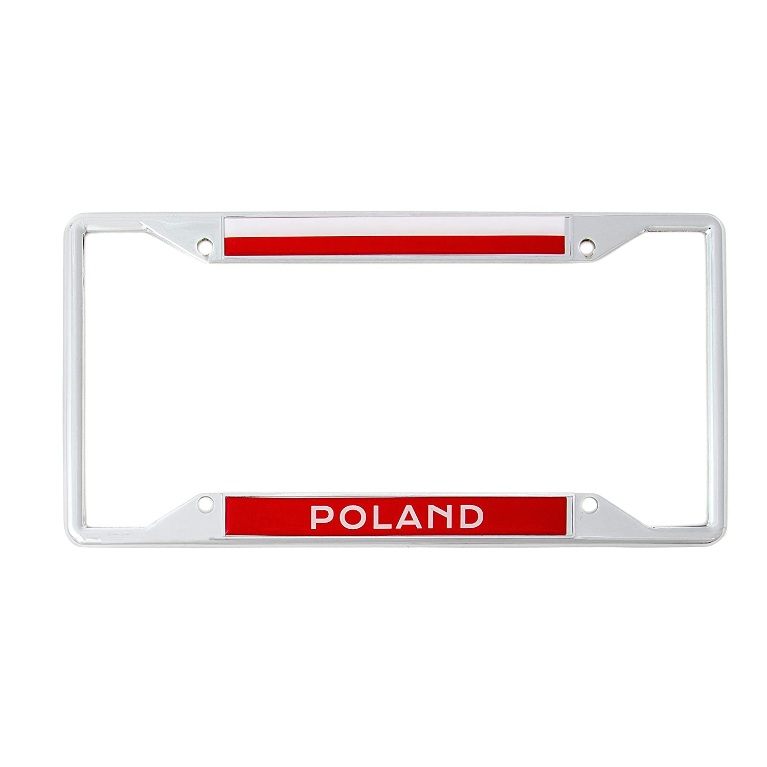 Desert Cactus Country of Poland Flag License Plate Frame for Front Back of Car Vehicle Truck Polish