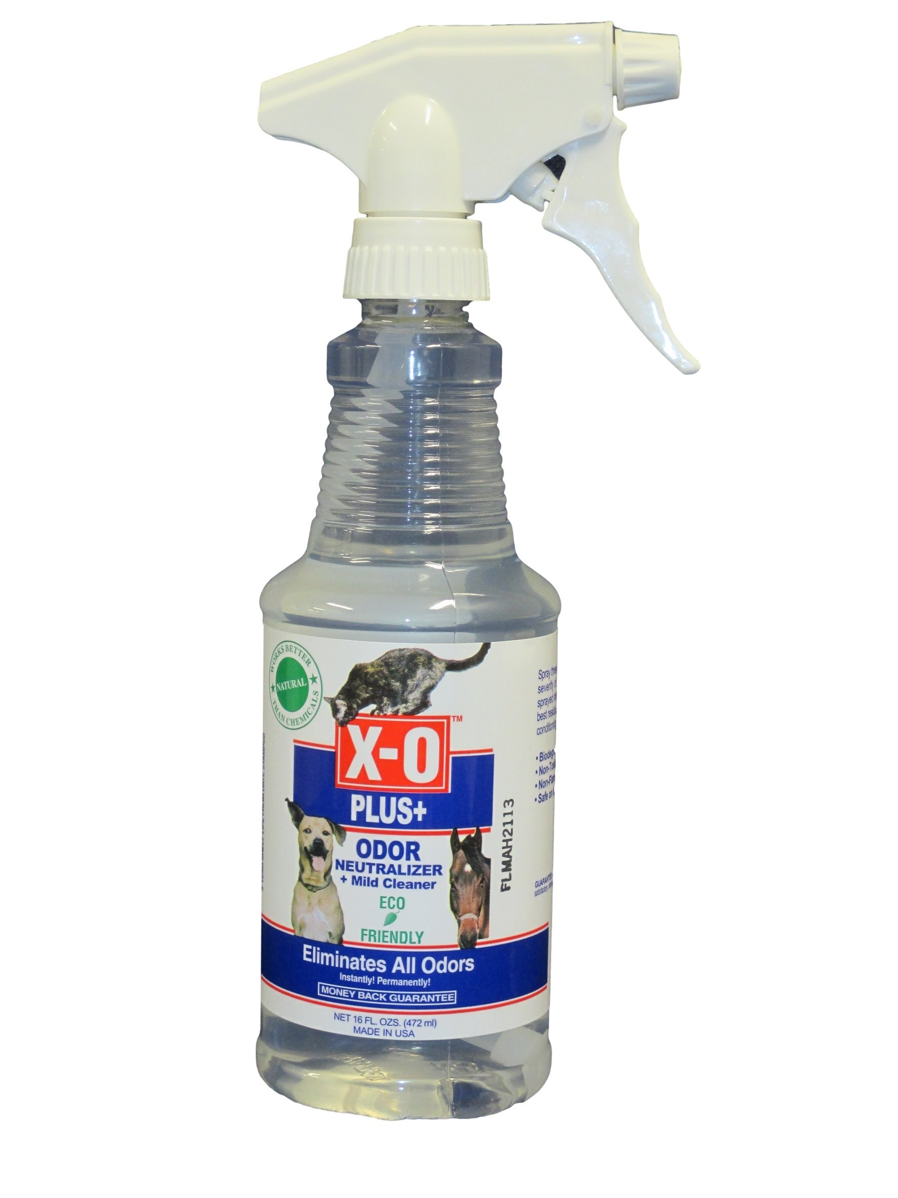 X-O Plus Odor Neutralizer/Cleaner Ready-To-Use Spray, 16-Ounce