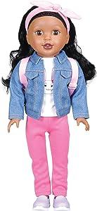 "Bumbleberry Girls 15003 Kids Danica Girl Doll, Black Hair, 15"" (Amazon Exclusive)"