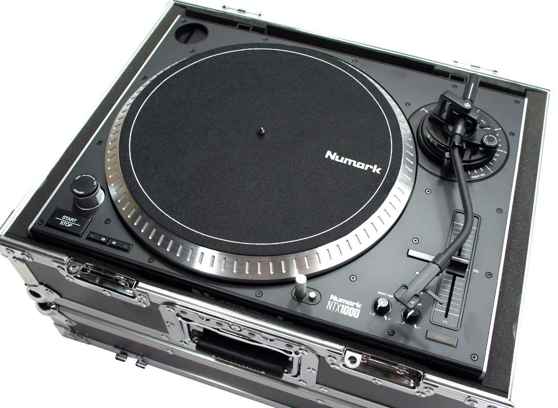 Harmony HC1200E Flight Foam Turntable Custom Case fits Audio Technica AT-LP120