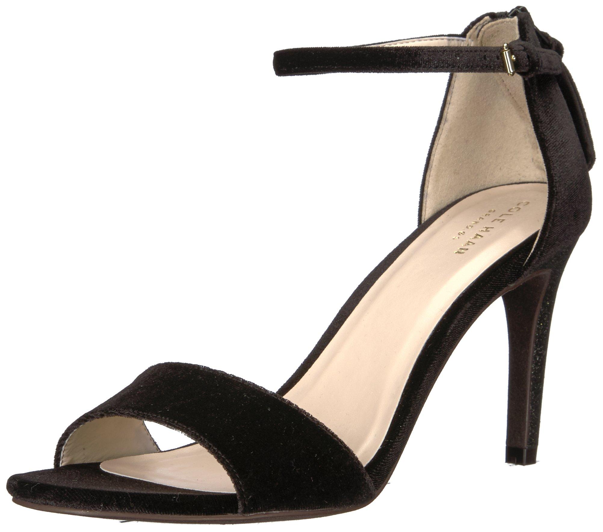 Cole Haan Women's Clara Grand Sandal 85Mm, Black Velvet, 8 B US