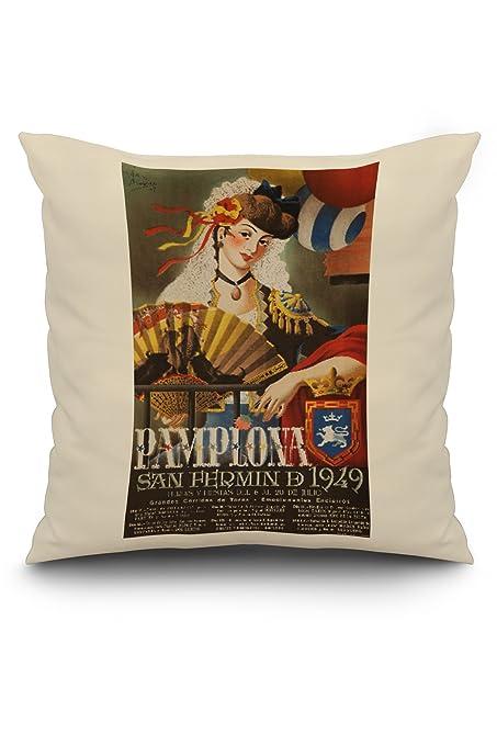 Amazon.com: Pamplona Vintage Poster (artist: Acha y Ameiro ...