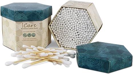 Bastoncillos ecológicos de algodón y bambú | Auriculares de algodón hechos de bambú y algodón orgánico | Bastoncillos ecológicos, incluido el embalaje | 2 paquetes de 300 auriculares de bambu: Amazon.es: Bebé