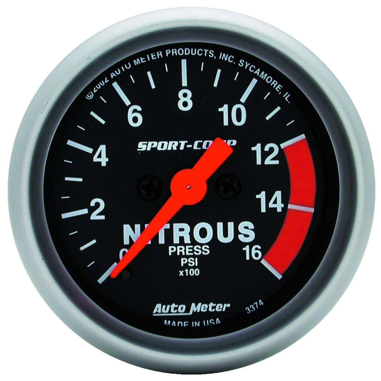 Auto Meter 3374 Sport-Comp Electric Nitrous Pressure Gauge by Auto Meter (Image #1)
