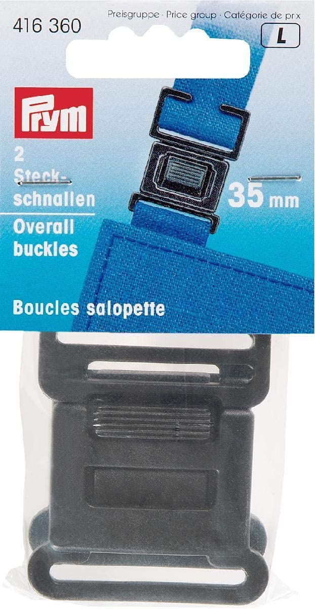 Steckschnallen KST schwarz 35 mm 416360