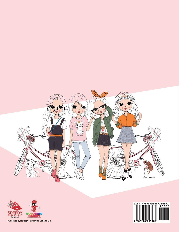 Fashion Forward Libro Da Colorare Per Ragazze 9 Anni Italian