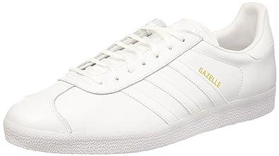 adidas gazelle blancos piel