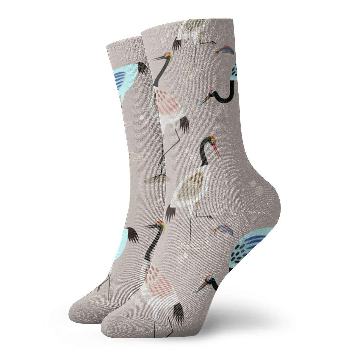 Herons Pond Unisex Funny Casual Crew Socks Athletic Socks For Boys Girls Kids Teenagers