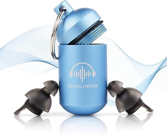 SCHALLWERK ® Sleep+ tapones de protección auditiva para dormir – tapones oidos dormir ronquidos – amortigua el ruido y los ronquidos – ideal para un ...
