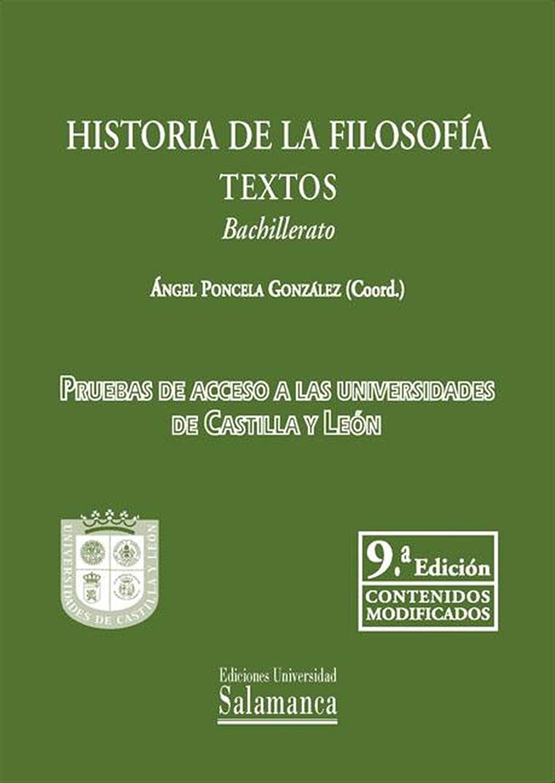Historia de la Filosofía: Textos Bachillerato eBook: González, Ángel Ponzela: Amazon.es: Tienda Kindle