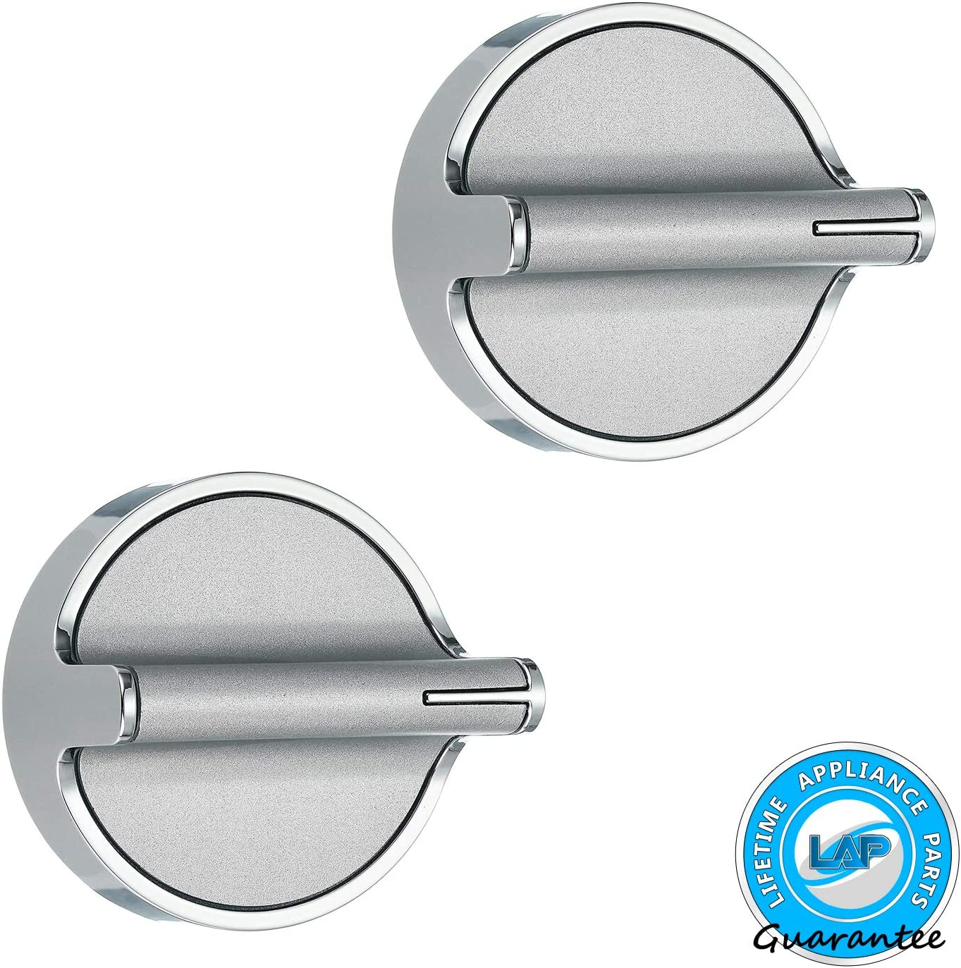 Lifetime Appliance 2 x W10818230 Knob Compatible with Whirlpool Stove/Range