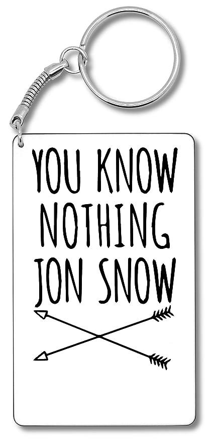 You Know Nothing Jon Snow Llavero Llavero: Amazon.es: Equipaje