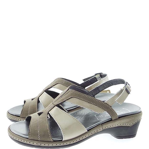 Grunland 68DORA SE0046 Sandales Femme Taupe Taupe - Chaussures Sandale Femme