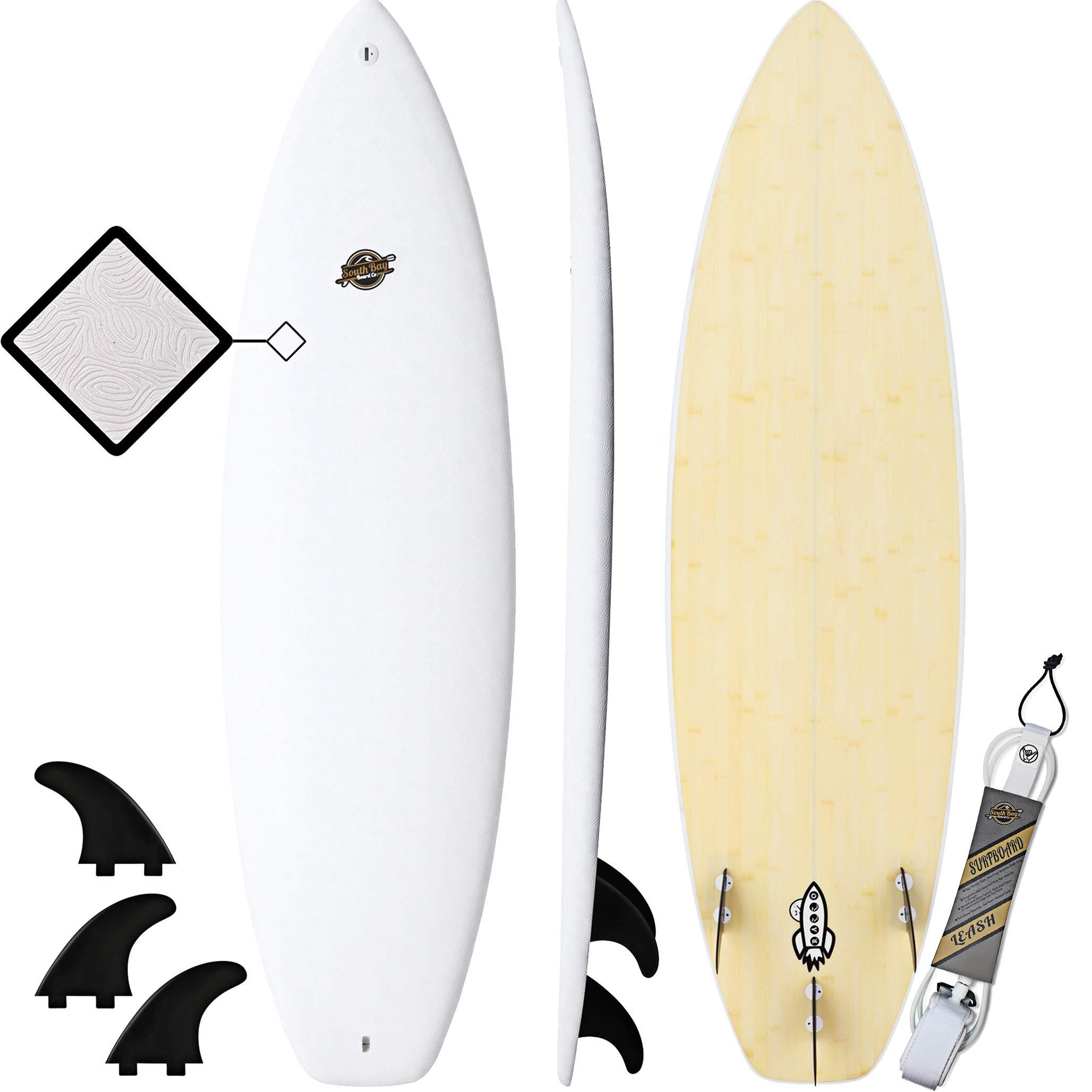Hybrid Surfboard - Best Performance Foam Surfboard for All Levels of Surfing - Custom Longboard & Shortboard Surfboard Shapes for Kids and Adults - Wax Free Soft Top + Fiberglassed Hard Bottom by South Bay Board Co.