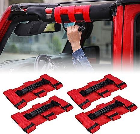 4Pcs Roll Bar Grab Handle 4WD Off Road Accessory For Jeep Wrangler JK CJ TJ YJ