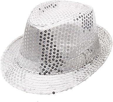 se connecter original à chaud grosses soldes Rameng- Paillettes Chapeau Jazz Femme Homme Sequins Adulte ...