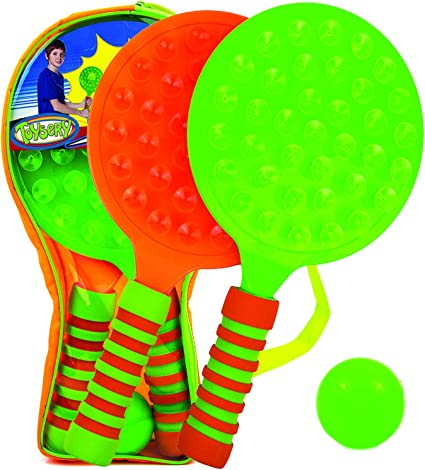 Kids Boom Paddle Bat And Ball Set Tennis Ping pong Outdoor Garden Games Beach